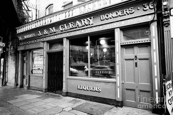 Wall Art - Photograph - J  M Cleary Clearys Pub Amiens Street Dublin Republic Of Ireland Europe by Joe Fox