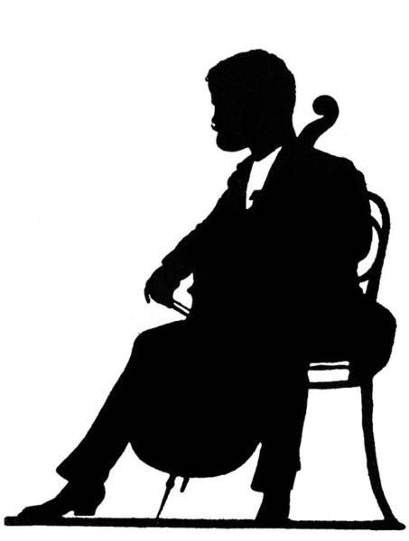 Cellist Painting - J M Grun By H Schliessmann by Hans Schliessmann
