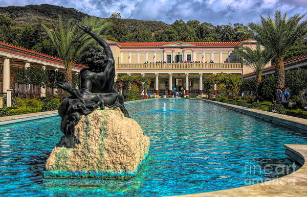 Wall Art - Photograph - J Paul Getty Villa Pool Roman Culture California  by Chuck Kuhn
