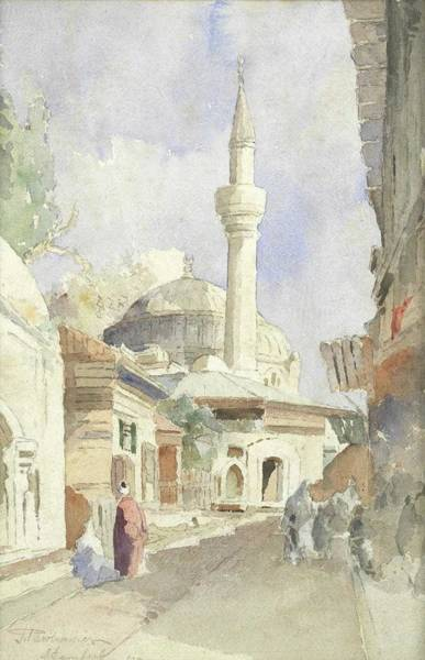 Wall Art - Painting - J. Pavlikevitch A Mosque In Istanbul by Celestial Images