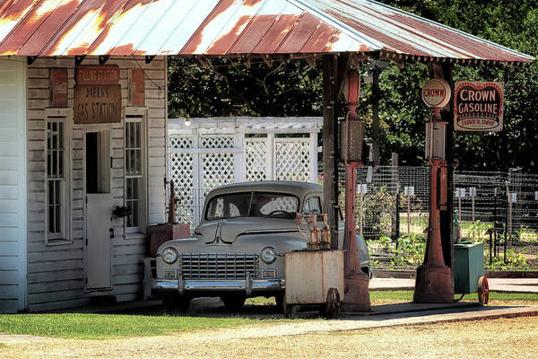 Photograph - Jaber's Gas Station by Susan Rissi Tregoning