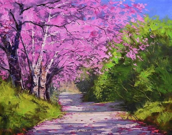 Wall Art - Painting - Jacaranda Trees by Graham Gercken