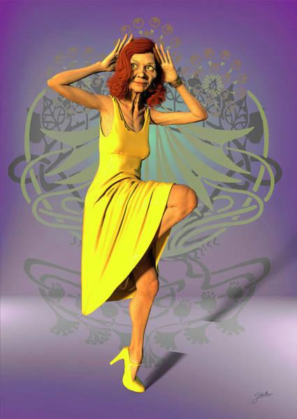 Wall Art - Digital Art - Jacinta In Yellow by Joaquin Abella