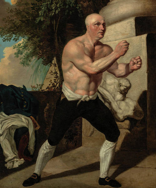 Boxing Painting - Jack Broughton, The Boxer, 1767 by John Hamilton Mortimer