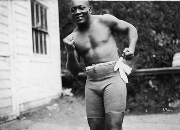 Boxing Photograph - Jack Johnson In Boxing Stance by Fpg