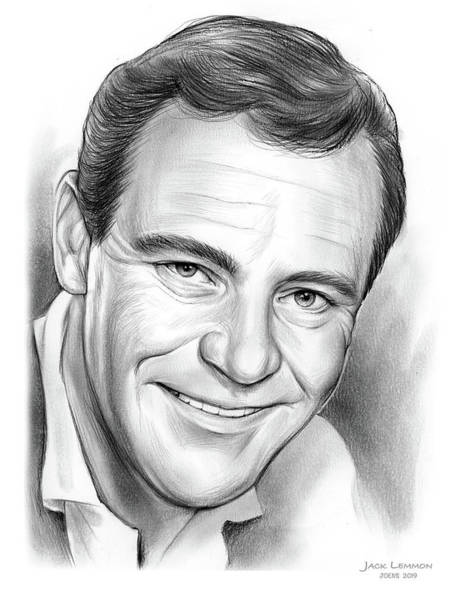 Wall Art - Drawing - Jack Lemmon by Greg Joens
