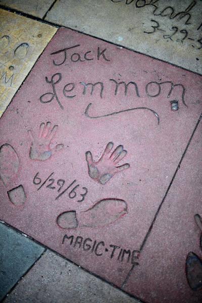 Wall Art - Photograph - Jack Lemmon Handprints In Grauman S Chinese Theatre Hollywood Boulevard Los Angeles California Usa by imageBROKER - Nano Calvo  VWPics