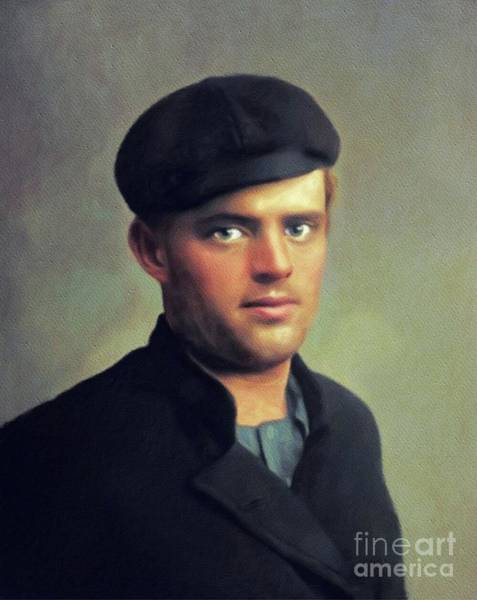 Wall Art - Painting - Jack London, Author by John Springfield
