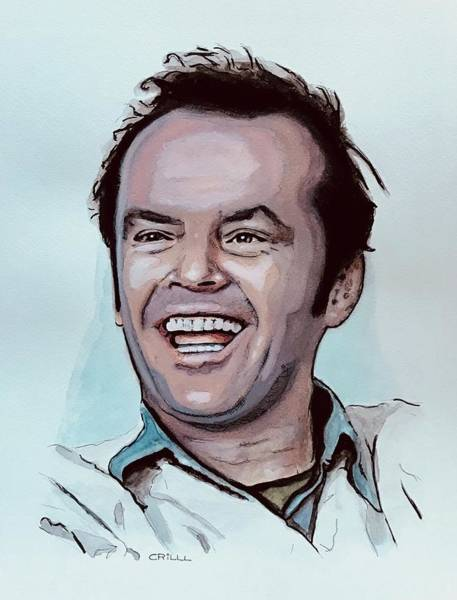 Danny Devito Wall Art - Painting - Jack Nicholson  by Crilll Cracraft