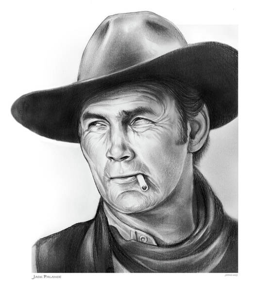 Wall Art - Drawing - Jack Palance by Greg Joens
