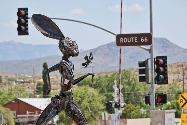 Photograph - Jack Rabbit Art In Kingman Arizona, On Route 66 by Tatiana Travelways