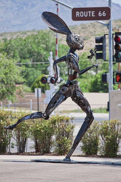 Photograph - Jack Rabbit Art In Kingman Arizona, On Route 66 - Vertical by Tatiana Travelways