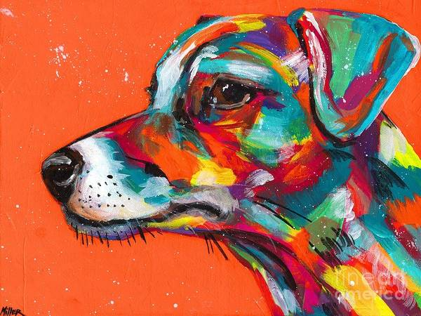 Wall Art - Painting - Jack Russell by Tracy Miller