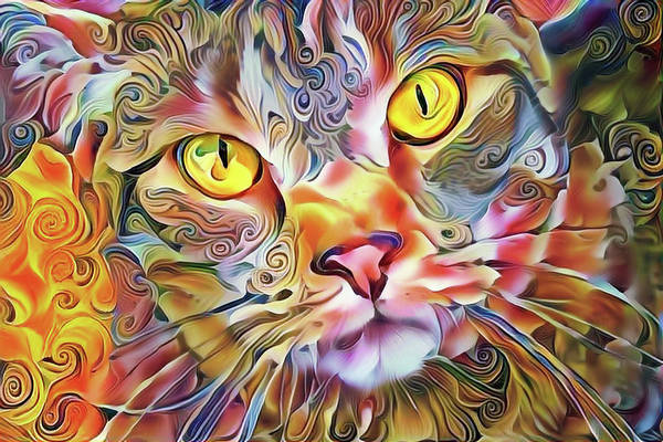 Mixed Media - Jack The Tabby Cat by Peggy Collins