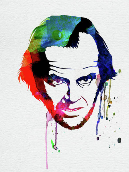 The Mixed Media - Jack Watercolor by Naxart Studio