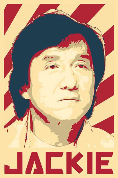Propaganda Digital Art - Jackie Chan Retro Propaganda by Filip Hellman