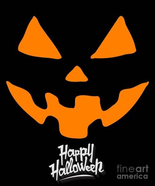 Digital Art - Jackolantern Pumpkin Happy Halloween by Flippin Sweet Gear