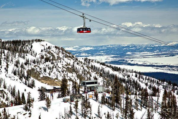 Photograph - Jackson Hole Aerial Tram Landscape by Adam Jewell