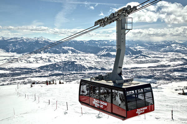 Photograph - Jackson Hole Big Red Tram by Adam Jewell