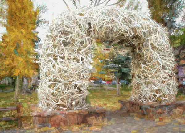 Wall Art - Photograph - Jackson Hole Elk Antler Arch by Donna Kennedy
