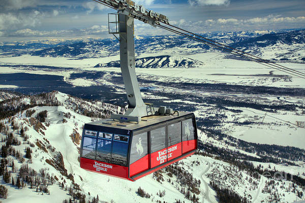 Photograph - Jackson Hole Tram In The Skies by Adam Jewell