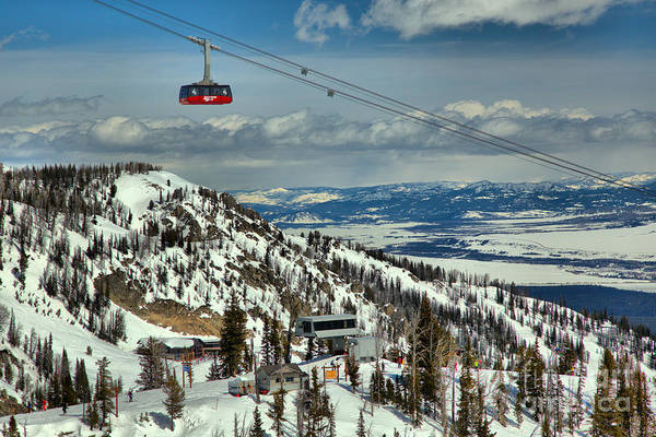 Photograph - Jackson Hole Tram In The Tetons by Adam Jewell