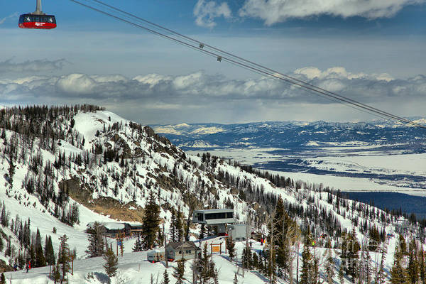 Photograph - Jackson Hole Tram Landscape by Adam Jewell
