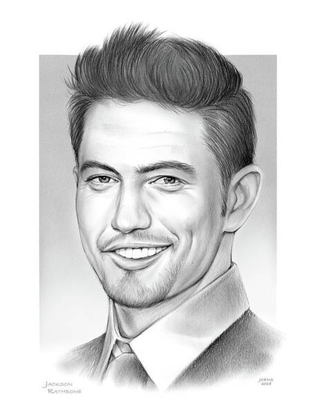 Pencil Drawing - Jackson Rathbone by Greg Joens
