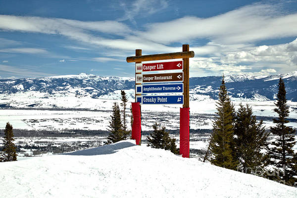 Photograph - Jackson Ski Slope Directions by Adam Jewell