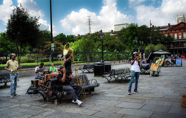 Wall Art - Photograph - Jackson Square Band by Greg Mimbs