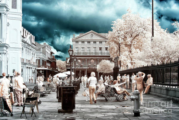 Photograph - Jackson Square Fun Day New Orleans Infrared by John Rizzuto