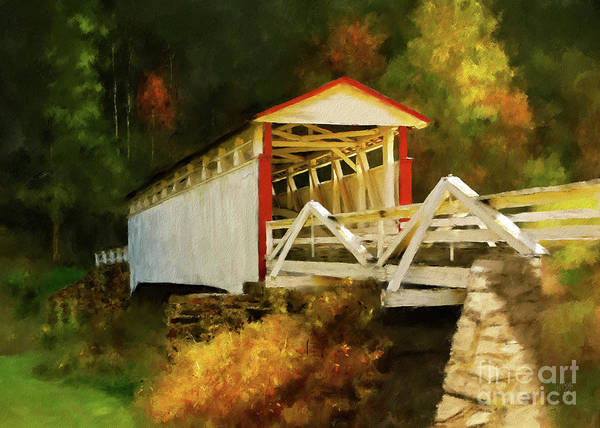 Digital Art - Jackson's Mill Bridge by Lois Bryan