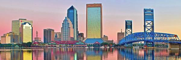 Wall Art - Photograph - Jacksonville Pano At Sunrise by Frozen in Time Fine Art Photography