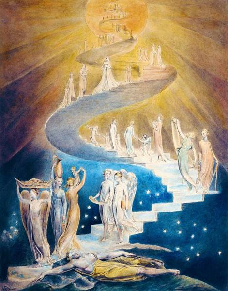 Felicitous Wall Art - Painting - Jacob's Dream - Digital Remastered Edition by William Blake