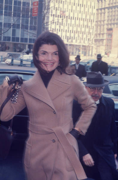Photograph - Jacqueline Kennedy Onassis  Was On by Art Zelin