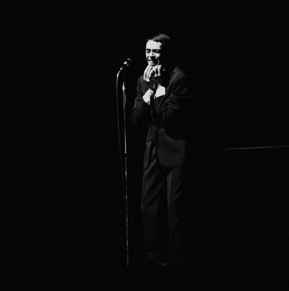 Belgian Culture Photograph - Jacques Brel At The Olympia In Paris by Reporters Associes