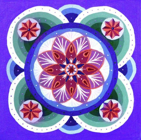 Painting - Jade Flower Mandala by Astrid Haszprunarova