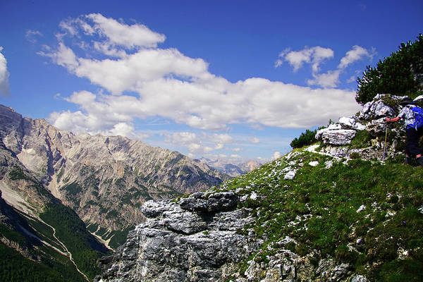 Photograph - Jagged Mountain And Deep Valley Of The Monte Piana  by Steve Estvanik