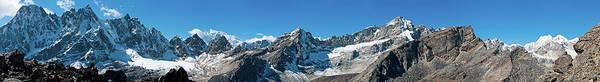 Gokyo Photograph - Jagged Pinnacles Snowy Summits Dramatic by Fotovoyager
