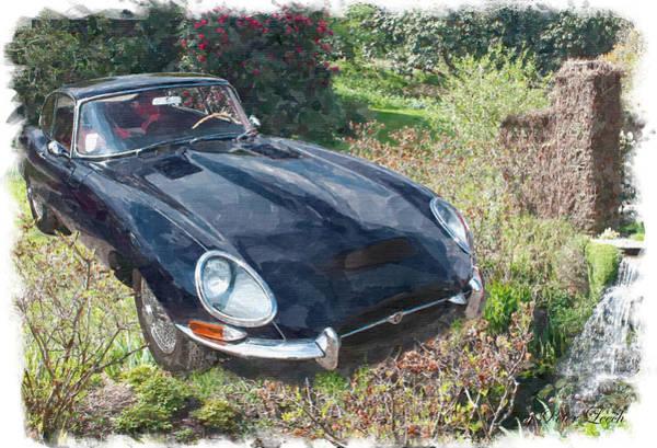 Digital Art - Jaguar E Type by Peter Leech
