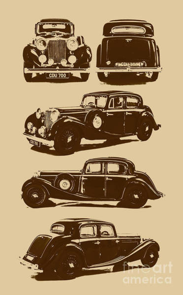 Vehicles Photograph - Jaguar Mark Iv Ss 2.5 Saloon by Jorgo Photography - Wall Art Gallery