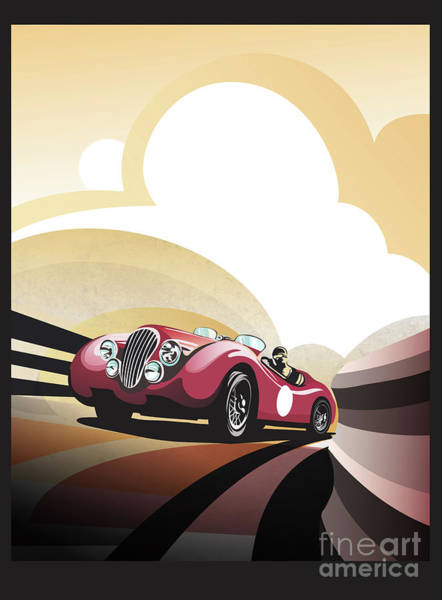 Painting - Jaguar Xk 120 by Sassan Filsoof