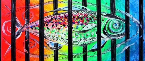 Painting - Jail Fish #135826 by J Vincent Scarpace