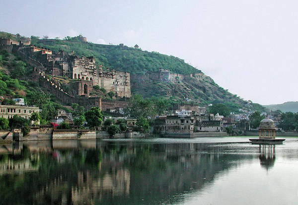 The Past Photograph - Jait Sagar Lake And Fort, Bundi by Not A Spectator But An Actor Of The Scene