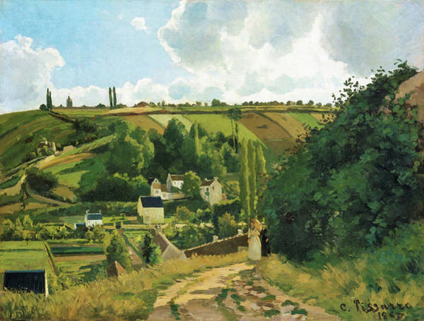 Wall Art - Painting - Jalais Hill, Pontoise - Digital Remastered Edition by Camille Pissarro