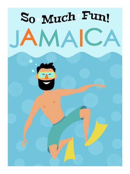Jamaica Digital Art - Jamaica Fun Hipster Travel by Flo Karp