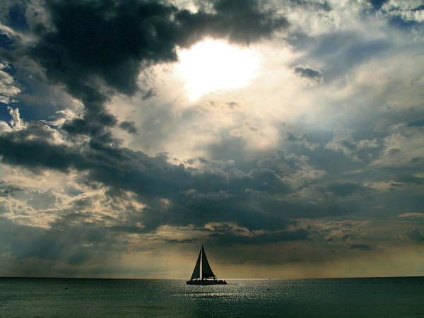 Jamaica Photograph - Jamaica Sailboat Sun by Photo By Greg Thow