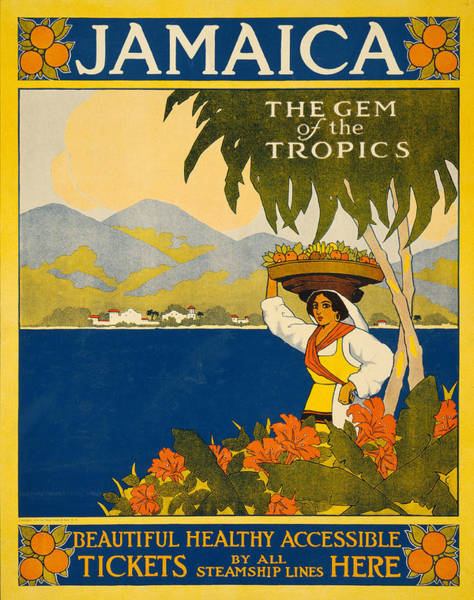 Greater Antilles Photograph - Jamaica Travel Poster by Graphicaartis