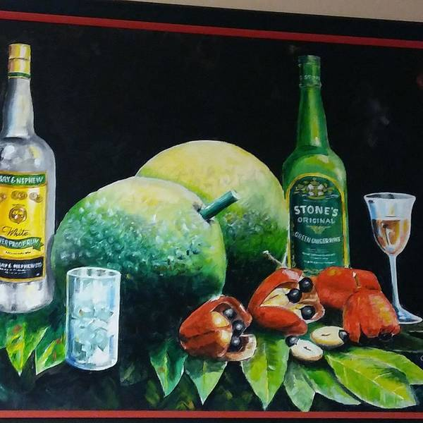 Wall Art - Painting - Jamaican Goodies  by Orville Miller