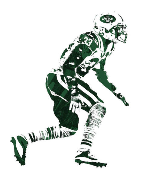 Wall Art - Mixed Media - Jamal Adams New York Jets Pixel Art 1 by Joe Hamilton